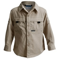 Columbia Sportswear Silver Ridge Mini-Rip Shirt - UPF 30, Long Roll-Up Sleeve (For Toddler Boys) in Nocturnal