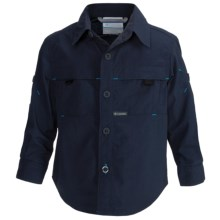 Columbia Sportswear Silver Ridge Mini-Rip Shirt - UPF 30, Long Roll-Up Sleeve (For Toddler Boys) in Nocturnal - Closeouts