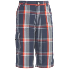 Columbia Sportswear Silver Ridge Novelty Shorts - UPF 25 (For Youth Boys) in Nocturnal Plaid - Closeouts