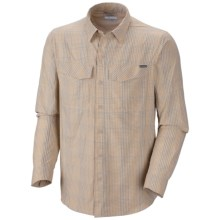Columbia Sportswear Silver Ridge Plaid Shirt - UPF 30, Long Sleeve (For Big and Tall Men) in Fossil Small Plaid - Closeouts