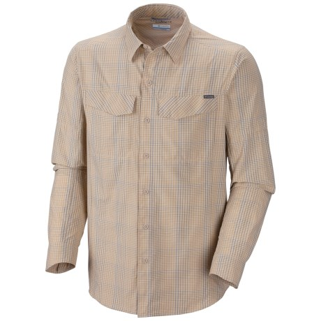 Columbia Sportswear Silver Ridge Plaid Shirt - UPF 30, Long Sleeve (For Big and Tall Men) in Fossil Small Plaid