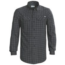 Columbia Sportswear Silver Ridge Plaid Shirt - UPF 30, Long Sleeve (For Men) in Black - Closeouts
