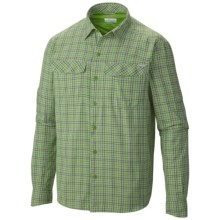 Columbia Sportswear Silver Ridge Plaid Shirt - UPF 30, Long Sleeve (For Men) in Cyber Green Ripstop Plaid - Closeouts