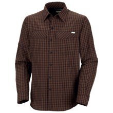 Columbia Sportswear Silver Ridge Plaid Shirt - UPF 30, Long Sleeve (For Men) in Ebony Blue Mini Check - Closeouts