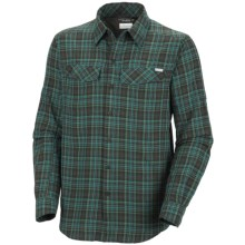 Columbia Sportswear Silver Ridge Plaid Shirt - UPF 30, Long Sleeve (For Men) in Emerald - Closeouts