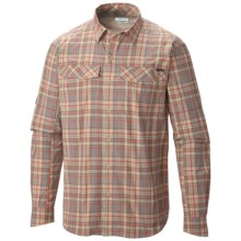 Columbia Sportswear Silver Ridge Plaid Shirt - UPF 30, Long Sleeve (For Men) in Fossil Heather Plaid - Closeouts