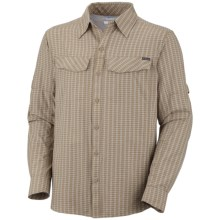 Columbia Sportswear Silver Ridge Plaid Shirt - UPF 30, Long Sleeve (For Men) in Fossil Mini Plaid - Closeouts