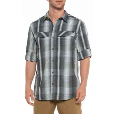 Columbia Sportswear Silver Ridge Plaid Shirt - UPF 30, Long Sleeve (For Men) in Grey Ash Dobby Plaid - Closeouts