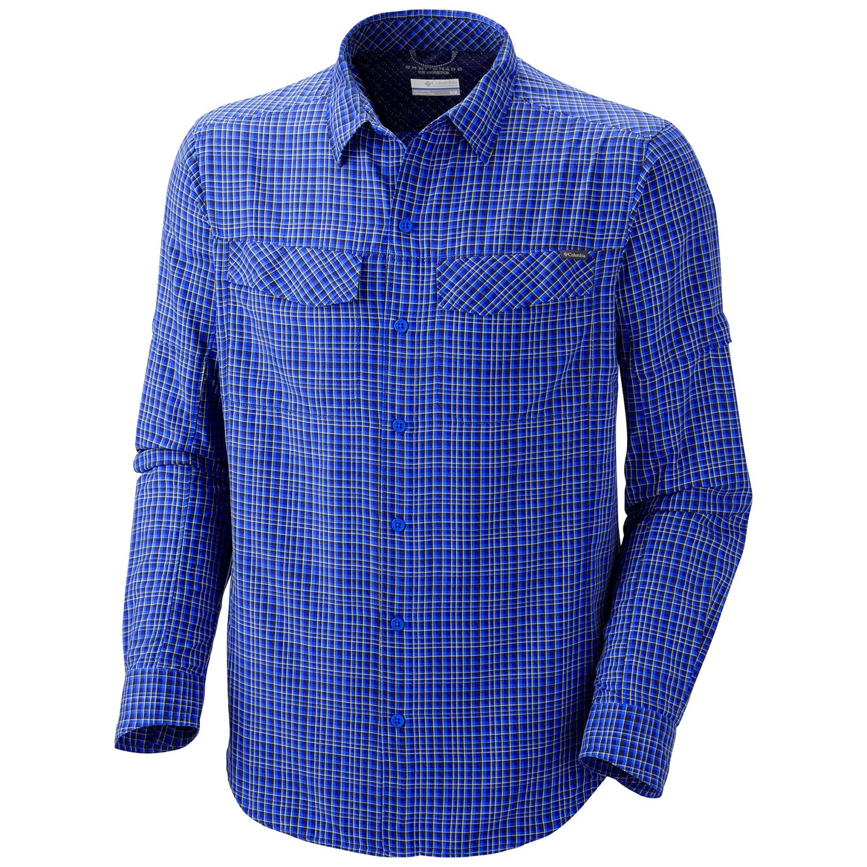Columbia sportswear silver ridge plaid shirt upf 30 for Men s upf long sleeve shirt