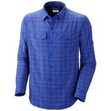 Columbia Sportswear Silver Ridge Plaid Shirt - UPF 30, Long Sleeve (For Men) in Hyper Blue Small Plaid - Closeouts