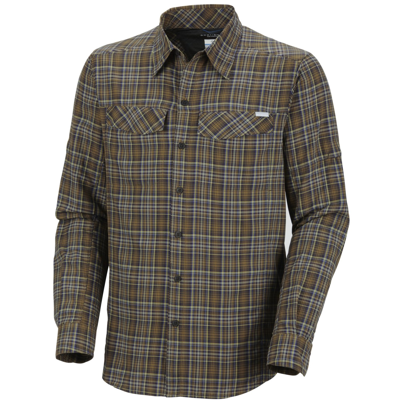Columbia sportswear silver ridge plaid shirt for men for Men s upf long sleeve shirt