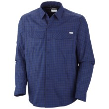 Columbia Sportswear Silver Ridge Plaid Shirt - UPF 30, Long Sleeve (For Men) in Tonal Small Check - Closeouts