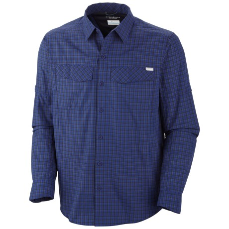 Columbia Sportswear Silver Ridge Plaid Shirt - UPF 30, Long Sleeve (For Men) in Black