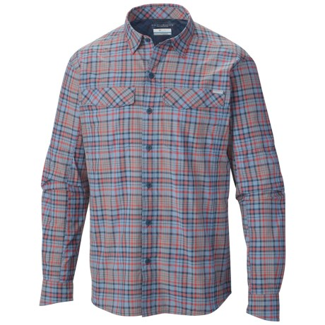 Columbia Sportswear Silver Ridge Plaid Shirt - UPF 30, Long Sleeve (For Men) in Whale Heather Plaid
