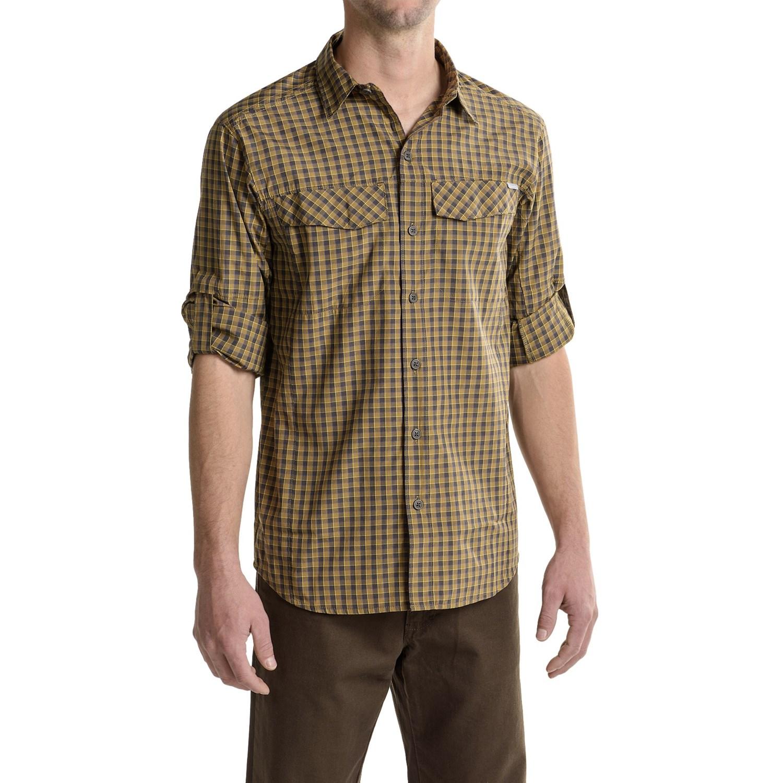 Columbia sportswear silver ridge plaid shirt for men for Mens plaid shirts long sleeve