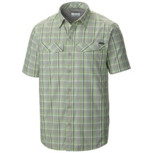 Columbia Sportswear Silver Ridge Plaid Shirt - UPF 30, Short Sleeve (For Men) in Columbia Grey End On End Plaid - Closeouts