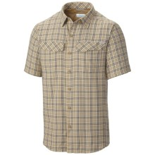 Columbia Sportswear Silver Ridge Plaid Shirt - UPF 30, Short Sleeve (For Men) in Crouton Ripstop Plaid - Closeouts