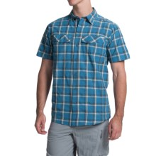 Columbia Sportswear Silver Ridge Plaid Shirt - UPF 30, Short Sleeve (For Men) in Marine Blue Heather Plaid - Closeouts