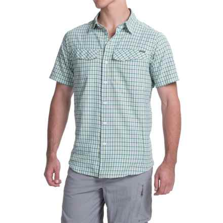Columbia Sportswear Silver Ridge Plaid Shirt - UPF 30, Short Sleeve (For Men) in Napa Green Ripstop Plaid - Closeouts