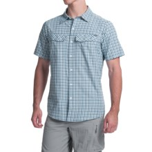 Columbia Sportswear Silver Ridge Plaid Shirt - UPF 30, Short Sleeve (For Men) in Night Tide Ripstop Plaid - Closeouts