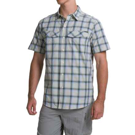 Columbia Sportswear Silver Ridge Plaid Shirt - UPF 30, Short Sleeve (For Men) in Stone Heather Plaid - Closeouts