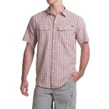 Columbia Sportswear Silver Ridge Plaid Shirt - UPF 30, Short Sleeve (For Men) in Super Sonic Ripstop Plaid - Closeouts