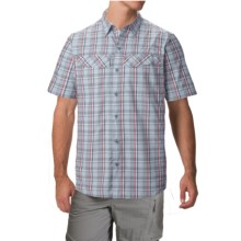 Columbia Sportswear Silver Ridge Plaid Shirt - UPF 30, Short Sleeve (For Men) in Whale End On End Plaid - Closeouts