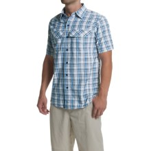 Columbia Sportswear Silver Ridge Plaid Shirt - UPF 30, Short Sleeve (For Men) in White End On End Plaid - Closeouts