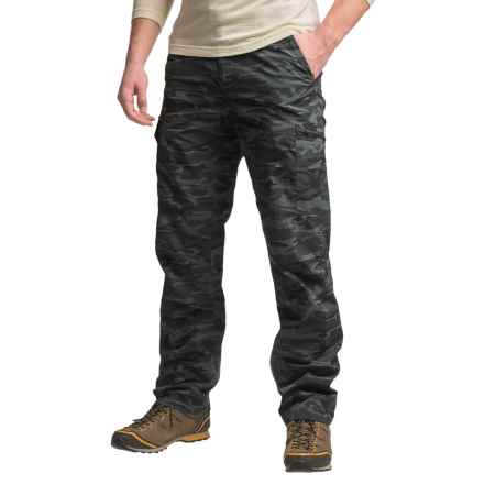 Columbia Sportswear Silver Ridge Printed Cargo Pants - UPF 50 (For Men) in Black Camo - Closeouts