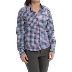 Columbia Sportswear Silver Ridge Ripstop Shirt - UPF 30, Long Sleeve (For Women) in Foxglove Ombre Plaid