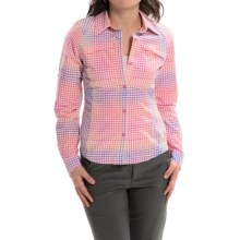 Columbia Sportswear Silver Ridge Ripstop Shirt - UPF 30, Long Sleeve (For Women) in Coral Flame Ombre Plaid - Closeouts