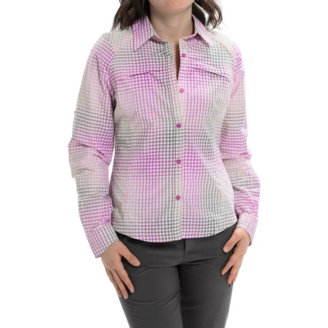 Columbia Sportswear Silver Ridge Ripstop Shirt - UPF 30, Long Sleeve (For Women) in Foxglove Ombre Plaid