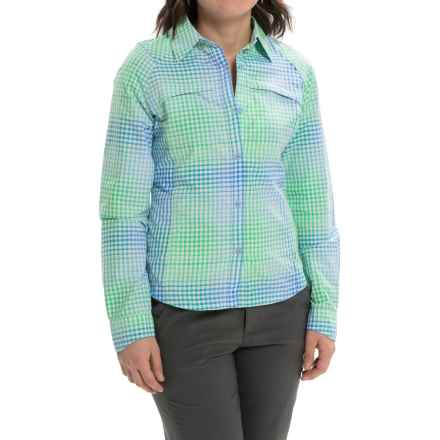 Columbia Sportswear Silver Ridge Ripstop Shirt - UPF 30, Long Sleeve (For Women) in Harbor Blue Ombre Plaid - Closeouts