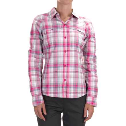 Columbia Sportswear Silver Ridge Ripstop Shirt - UPF 30, Long Sleeve (For Women) in Haute Pink Dobby Plaid - Closeouts