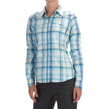 Columbia Sportswear Silver Ridge Ripstop Shirt - UPF 30, Long Sleeve (For Women) in Stormy Blue Dobby Plaid