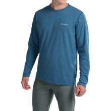 Columbia Sportswear Silver Ridge Shirt - Omni-Freeze® ZERO, Long Sleeve (For Men) in Marine Blue Heather - Closeouts