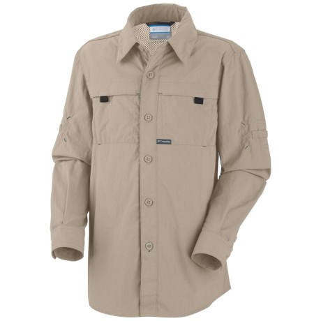 Columbia Sportswear Silver Ridge Shirt - UPF 30, Long Sleeve (For Boys) in Fossil
