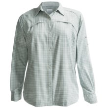 Columbia Sportswear Silver Ridge Shirt - UPF 30, Ripstop Plaid, Long Sleeve (For Plus Size Women) in Niagra Samll Plaid - Closeouts