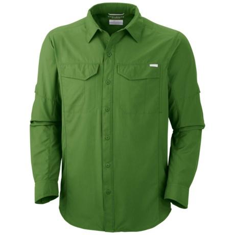 Columbia Sportswear Silver Ridge Shirt - UPF 50, Long Roll-Up Sleeve (For Men) in Dark Backcountry