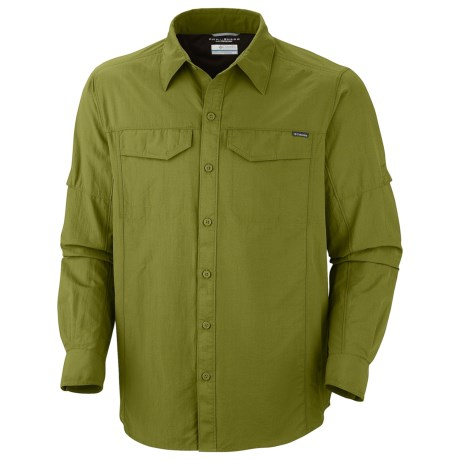 Columbia Sportswear Silver Ridge Shirt - UPF 50, Long Roll-Up Sleeve (For Men) in Grey Green