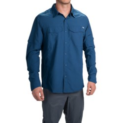 Columbia Sportswear Silver Ridge Shirt - UPF 50, Long Roll-Up Sleeve (For Men) in Marine Blue