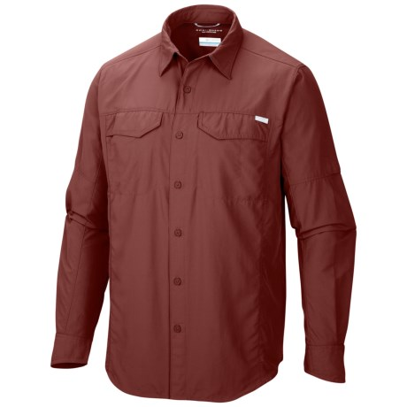 Columbia Sportswear Silver Ridge Shirt - UPF 50, Long Roll-Up Sleeve (For Men) in Red Rocks