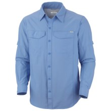 Columbia Sportswear Silver Ridge Shirt - UPF 50, Long Roll-Up Sleeve (For Men) in White Cap - Closeouts