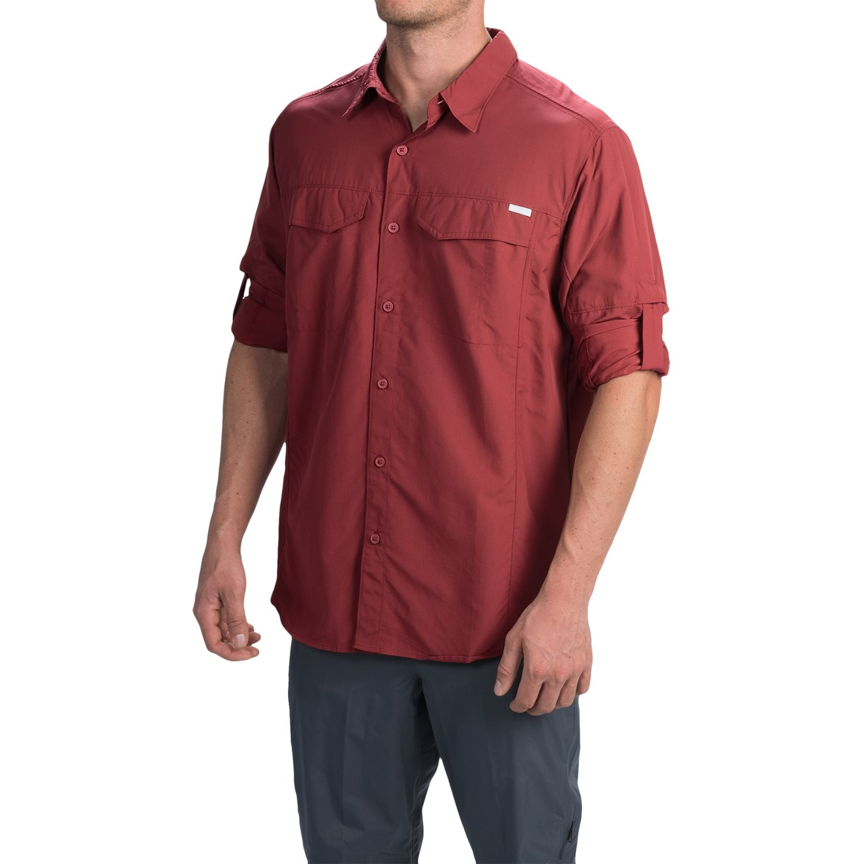 Columbia sportswear silver ridge shirt for men 5249j for Men s upf long sleeve shirt