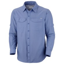 Columbia Sportswear Silver Ridge Shirt - UPF 50, Long Sleeve (For Big Men) in White Cap - Closeouts