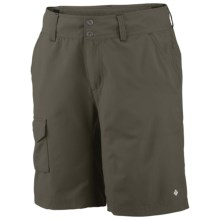 Columbia Sportswear Silver Ridge Shorts - UPF 50, Stretch Nylon (For Women) in Peatmoss - Closeouts