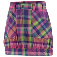Columbia Sportswear Silver Ridge Skort - UPF 30 (For Youth Girls) in Pink Taffy Plaid - Closeouts
