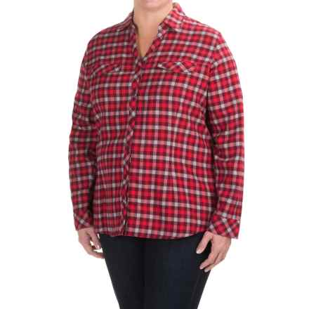 Columbia Sportswear Simply Put II Flannel Shirt - Long Sleeve (For Plus Size Women) in Chianti Check - Closeouts