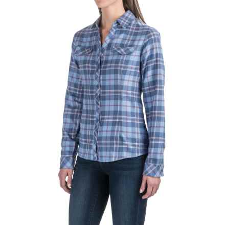Columbia Sportswear Simply Put II Flannel Shirt - Long Sleeve (For Women) in Bluebell Large Plaid - Closeouts