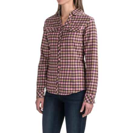 Columbia Sportswear Simply Put II Flannel Shirt - Long Sleeve (For Women) in Dusty Purple Check - Closeouts